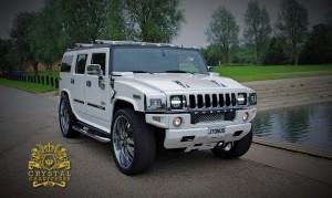 White Hummer H2 1