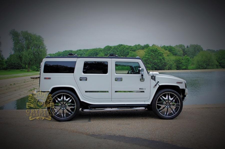 White Hummer H2