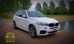 White BMW X5 1