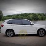 White BMW X5