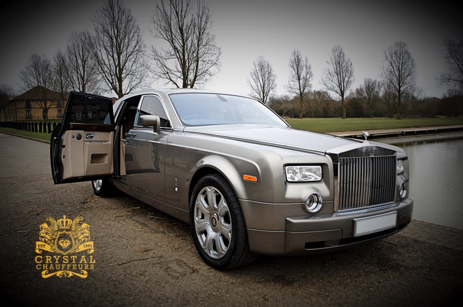 Grey Rolls Royce Phantom