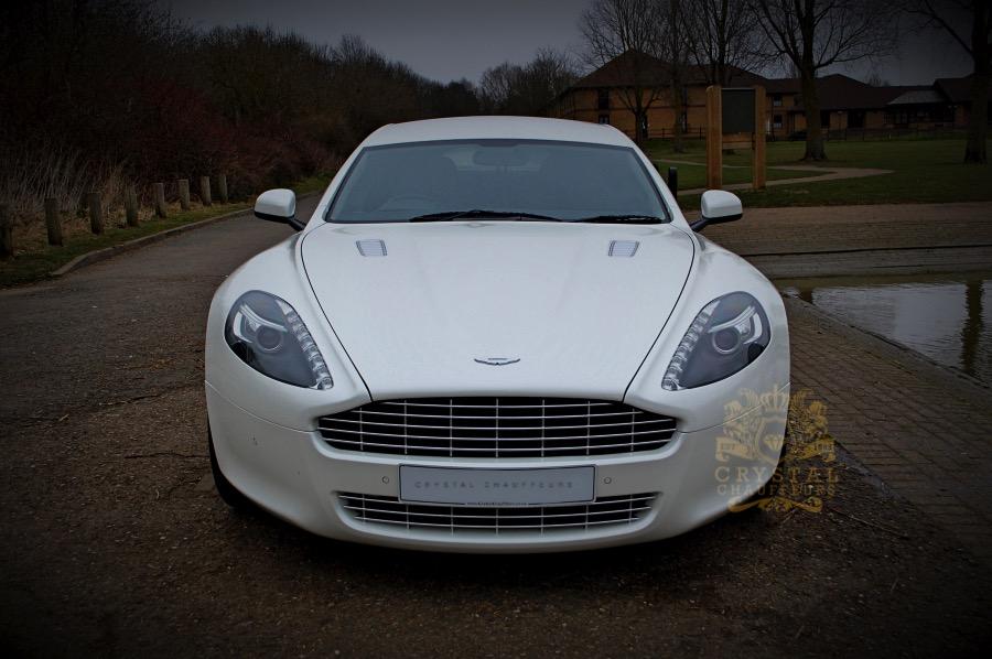 White Aston Martin