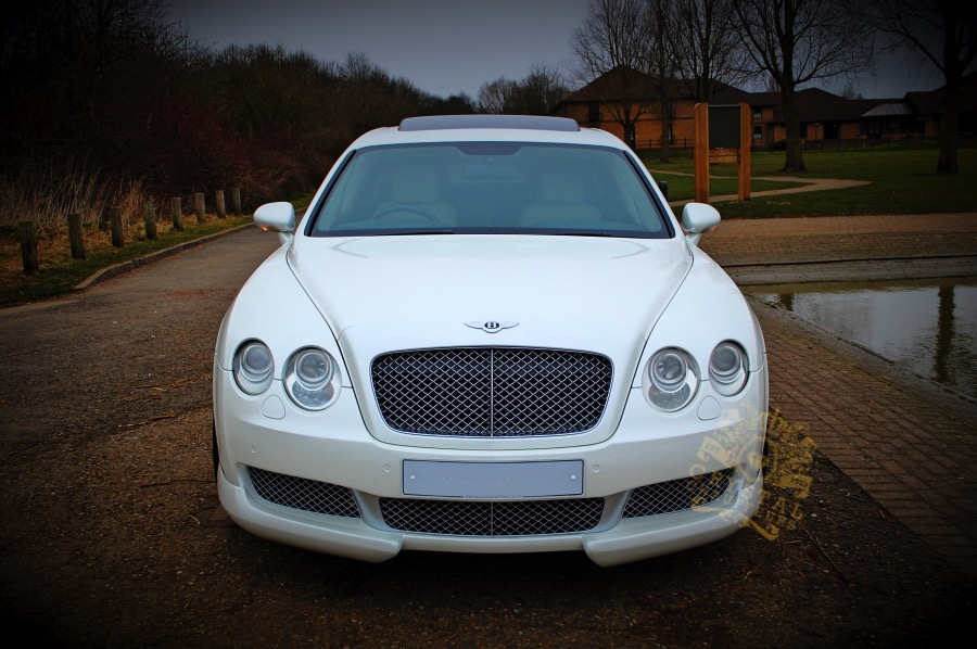 White Bentley Flying Spur Wedding Car Hire