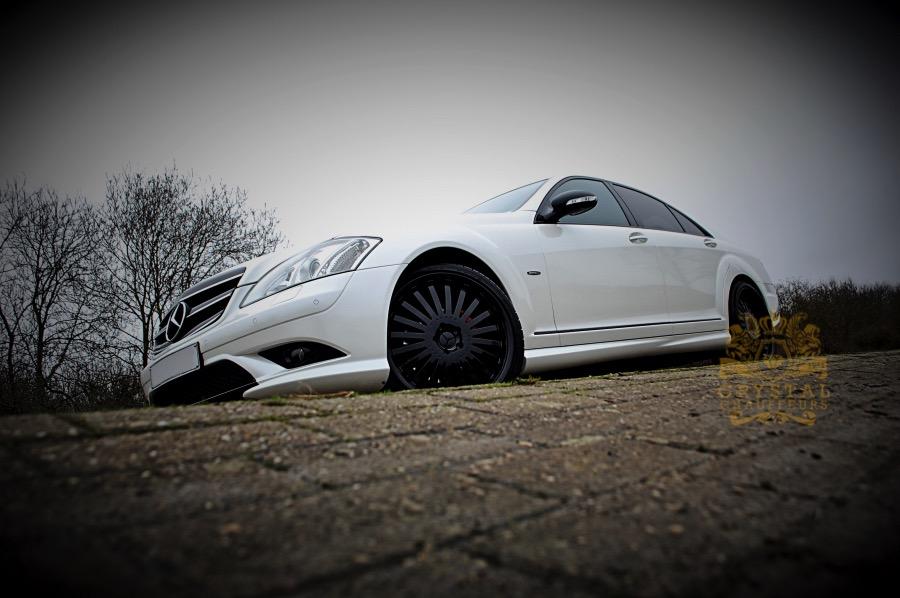 White Mercedes S Class