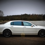 White Bentley Continental Flying Spur