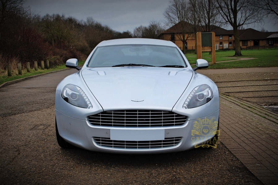 Silver Aston Martin Rapide