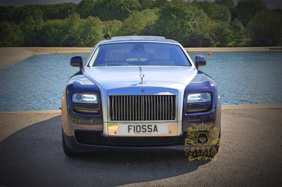 Purple Rolls Royce Ghost