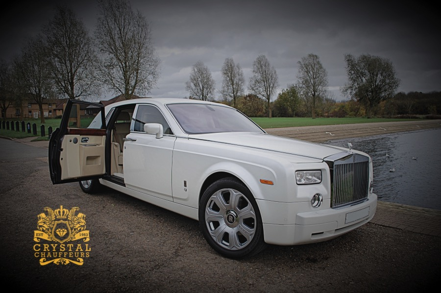 White Rolls Royce Phantom Wedding Car Hire
