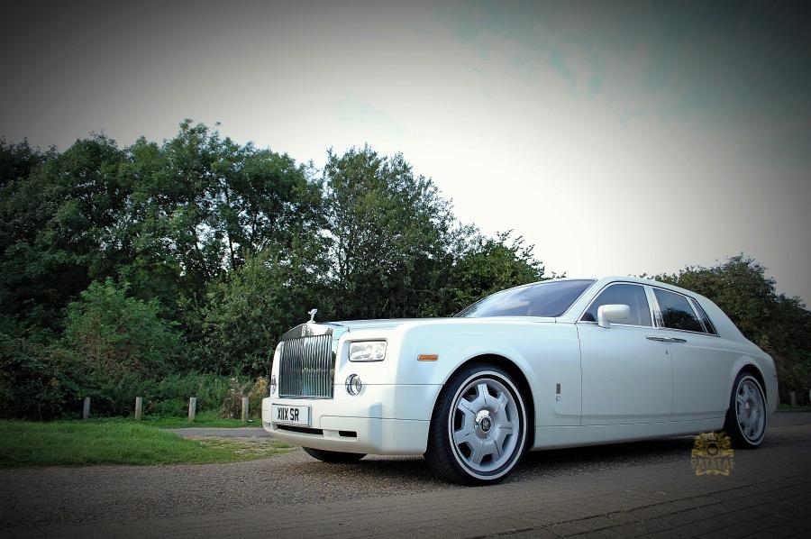 BMW Car Cover >> White Rolls Royce Phantom Wedding Car Hire