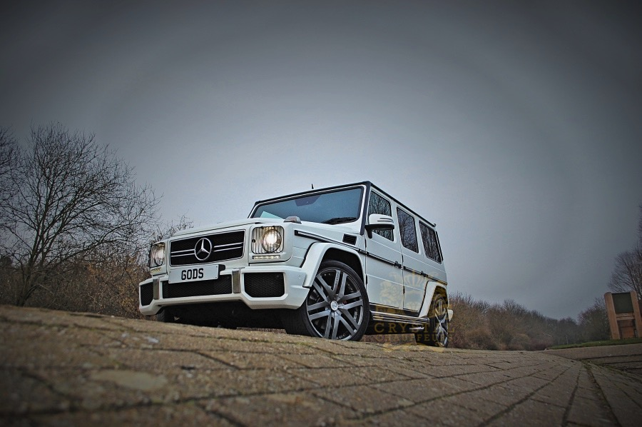 White Mercedes G-WAGON G63 AMG