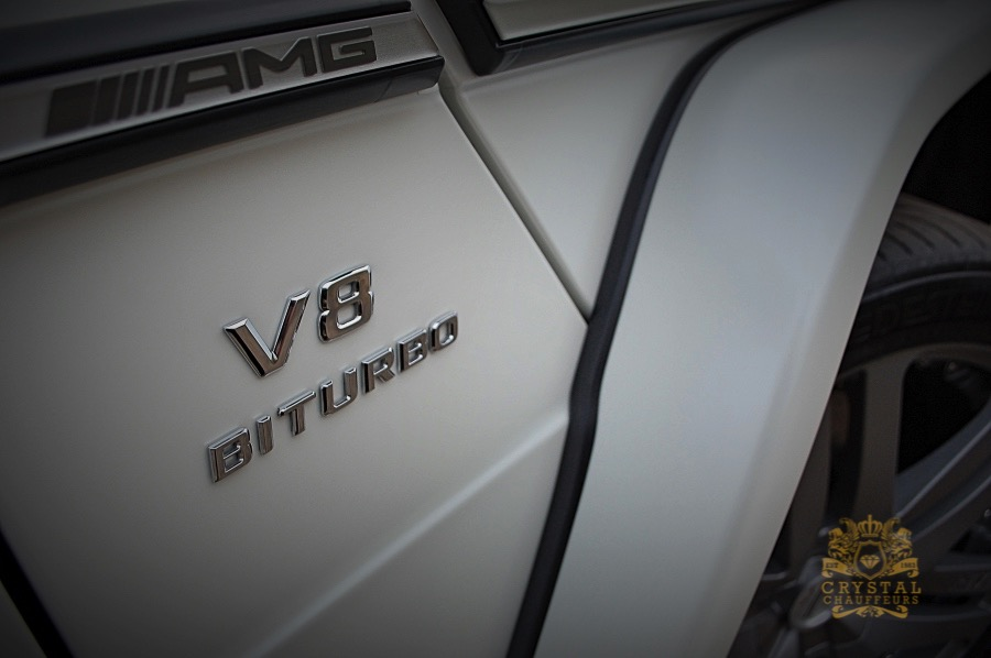 White Mercedes G-WAGON G63 AMG