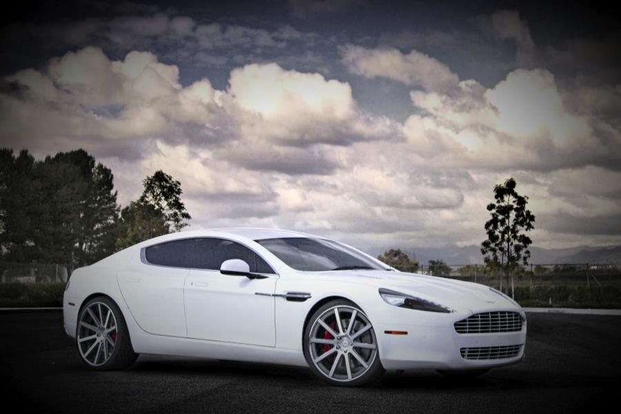 White Aston Martin Wedding Car Hire