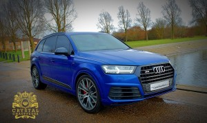 Blue Audi SQ7 1