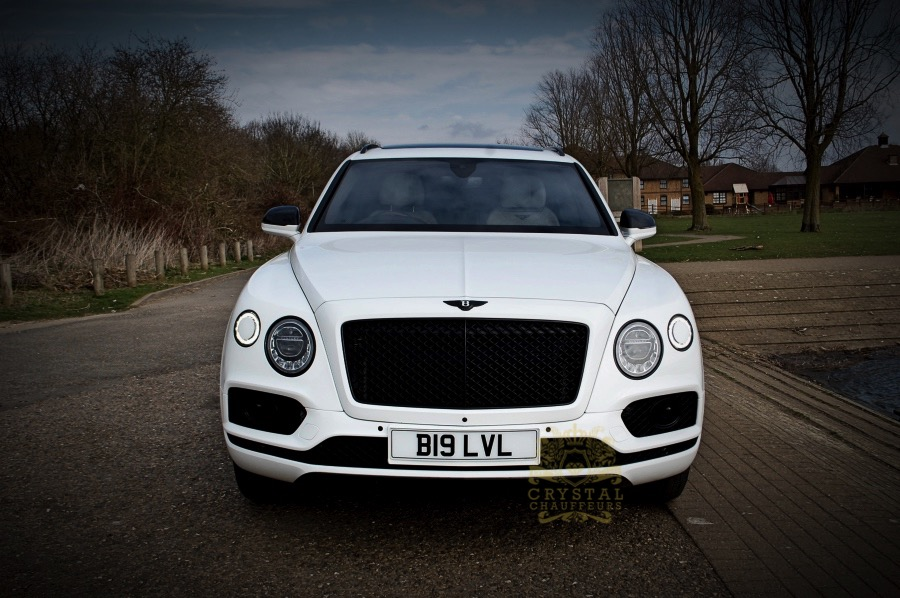 White Bentley Bentayga