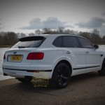 White Bentley Bentayga