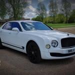 White Bentley Mulsanne