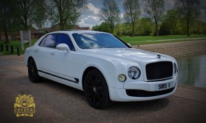 White Bentley Mulsanne 1