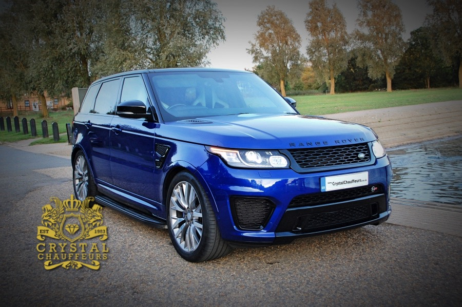 Blue Land Rover Range Rover Sport Svr Car Hire London
