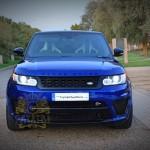 Blue Land Rover Range Rover Sport SVR